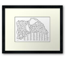 Race Tracks to Scale V2 - Listed and Labelled Framed Print