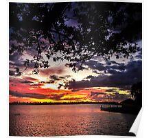 An autumn sunset, Lake Wendouree Poster