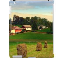 Hay bales and country village | landscape photography iPad Case/Skin