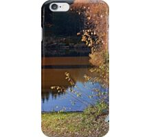 Romantic bench at the pond II | waterscape photography iPhone Case/Skin