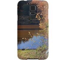 Romantic bench at the pond II | waterscape photography Samsung Galaxy Case/Skin