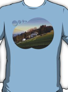 Village houses on the hill | landscape photography T-Shirt