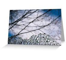 Shard Mountain - A Cracked Landscape Greeting Card
