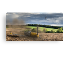 Crash-landing Bf 109 Canvas Print