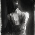 Song For Eurydice (charcoal and chalk, some dirt and sand.) by pauldrobertson