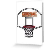 Basketball sports basket Greeting Card