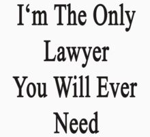 I'm The Only Lawyer You Will Ever Need  by supernova23