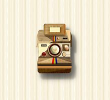 Polaroid ~ Wooden Polaroid Camera [White] by vikaze