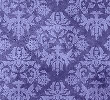 Grungy Blue Damask by melangetulsa