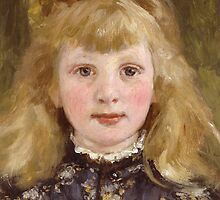Portrait of a Young Girl by Bridgeman Art Library
