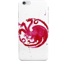 dragon coat of arms (card) iPhone Case/Skin