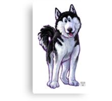 Animal Parade Husky Canvas Print
