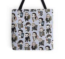 Sherlock Chibis All Over (Cool) Tote Bag