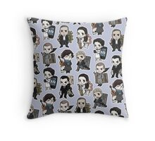 Sherlock Chibis All Over (Cool) Throw Pillow