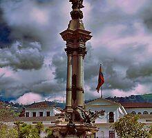 Ecuador. Quito. Plaza de la Independencia. Monument. by vadim19