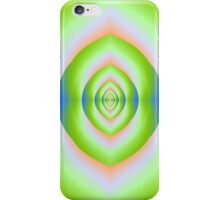 Green Pink and Blue Labyrinth Cave iPhone Case/Skin