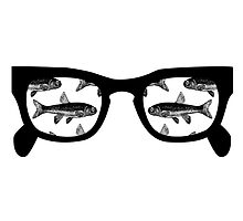 Fish Eyes White by M  Bianchi