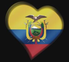 Ecuadorian Flag - Ecuador - Heart by graphix