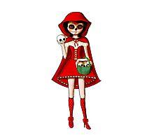 El Dia de Los Muertos Red Riding Hood Photographic Print