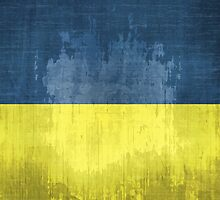 Grunge Flag Of Ukraine by Olga Altunina