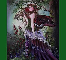 Mediaval forest lady fairy tote bag by Gabriella  Szabo