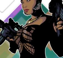Nicki Minaj Lookin Ass Machine Guns Sticker