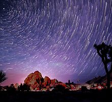Amazing Galaxy Star Trails Spin Over Joshua Tree by Gavin Heffernan