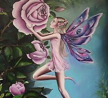 Pink fairy tote bag 2 by Gabriella  Szabo