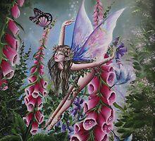 Foxglove fairy tote bag by Gabriella  Szabo