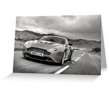 Aston Martin V12 Vantage S in North Wales ... Greeting Card