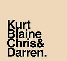 KurtBlaineChris&Darren by bleerios