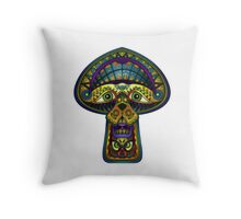 The Great Mushroom in the Sky Throw Pillow