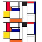 Mondrian inspired pattern by Veera Pfaffli