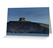 Comino Cliffside Greeting Card