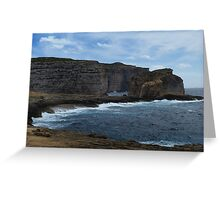 Secluded Bluffs Greeting Card
