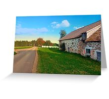 Traditional farmhouse scenery | landscape photography Greeting Card