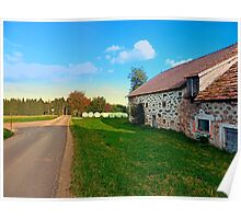 Traditional farmhouse scenery | landscape photography Poster