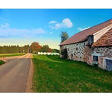 Traditional farmhouse scenery | landscape photography Photographic Print