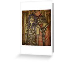 Twisted the Clown and Papa Lazarou Greeting Card