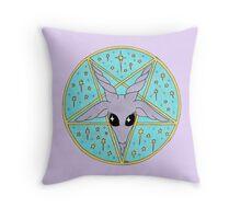 sparkly Baphomet Throw Pillow