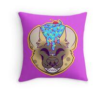 Cupcake Spotted Hyena Throw Pillow