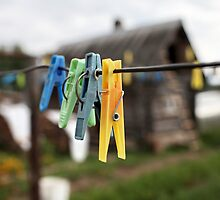 colorful clothespins by mrivserg
