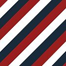 Bold Stripes of Red, White and Blue by Cherie Balowski