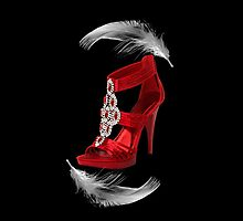 ♥•.¸¸.ஐCLASSY RED SHOE WITH A FEATHERS TOUCH THROW PILLOW ♥•.¸¸.ஐ  by ╰⊰✿ℒᵒᶹᵉ Bonita✿⊱╮ Lalonde✿⊱╮