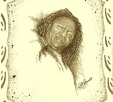 Donna - Sweet Don - Sepia - with Boarder by julieannart