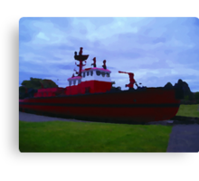 Old Fire Boat Canvas Print