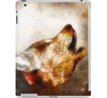 abstract howling wolf iPad Case/Skin