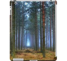 Pine Forest in Morning Fog. iPad Case/Skin