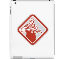 Soldier Serviceman Military Assault Rifle Shield Retro iPad Case/Skin