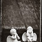 "Graveyard Adornments #34 - "" Two Little Angels ""  by Malcolm Heberle"